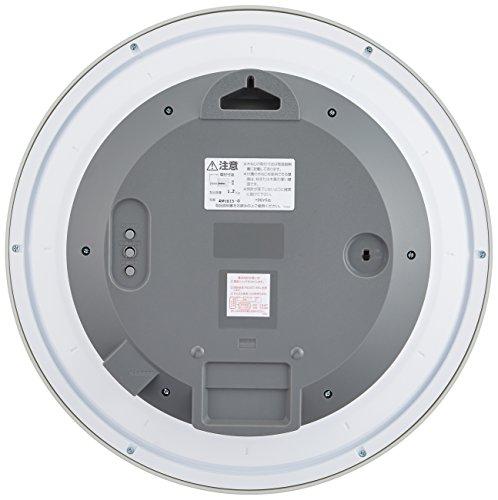 CITIZEN ( シチズン ) 電波 ソーラー 掛け時計 エコライフM815 エコマーク グリーン購入法 適合商品 オフィス シルバー 4MY815-019