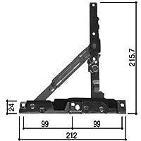 フリクションステー(HH-5K-12980) YS:シルバー×商品種類:外観右吊元上(左吊元下)