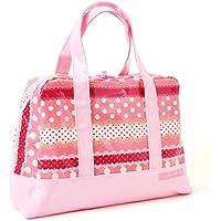 おしゃれKidsのセミボストン(ファスナー付きプールバッグ) リボンとレースの水玉ハーモニー(ピンク) N2902100