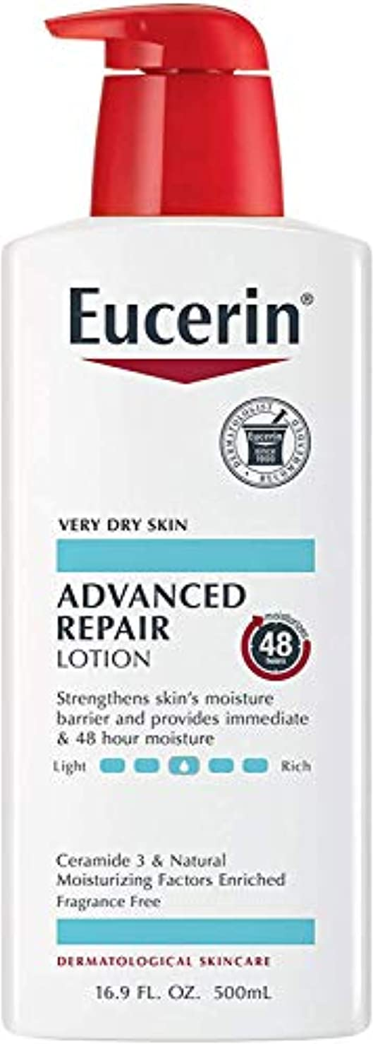論理的にレイア便益Eucerin Plus Smoothing Essentials Fast Absorbing Lotion 500 ml (並行輸入品) -3 Packs