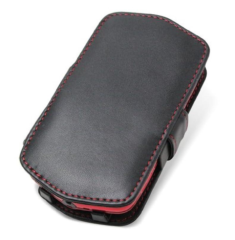 浴室考慮原子PDAIR レザーケース for G'zOne TYPE-L CAL21 横開きタイプ(ブラック/レッドステッチ) PALCCAL21B/BL/RD