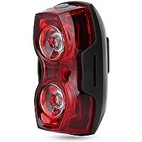 LED 自転車 テールライト ランプ バイクリアライト サイクリングライト バイク警告灯 電池式 セーフティーライト 高輝度 防水 3点灯モード 夜間走行