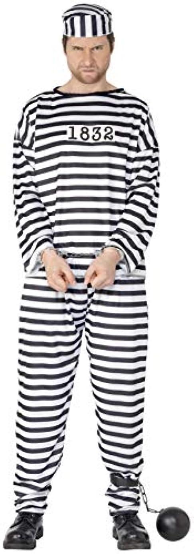 早く過言トーンコンビクト 囚人服 大人用 XL