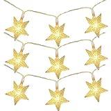 BigFox 星型装飾LEDライト LED 星 イルミネーション オーナメント イルミ LEDストリングライト 飾りスター クリスマス飾り 新発想 防水 3m 20球 結婚式 ホームパーティー お誕生日バー などに最適 雰囲気作り 電飾