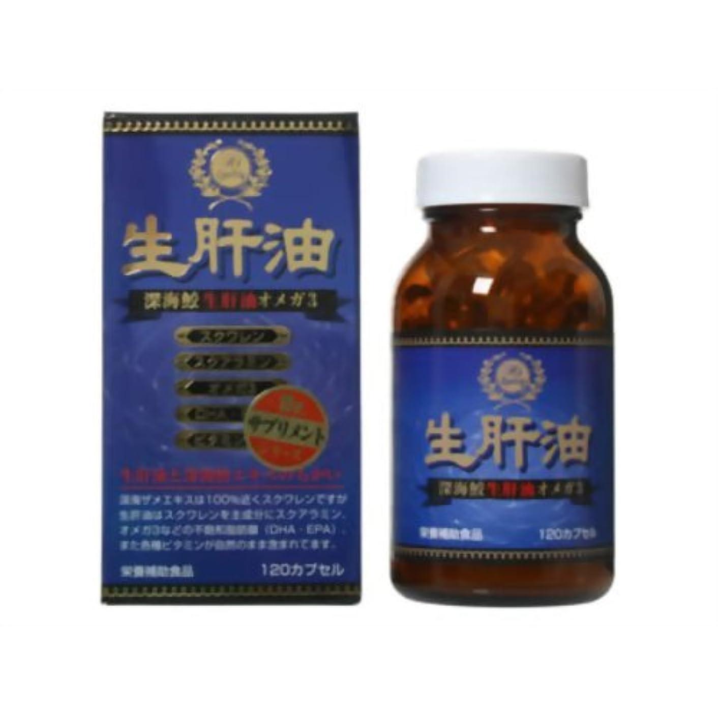 現実的補助金セラー生肝油 オメガ3 120カプセル