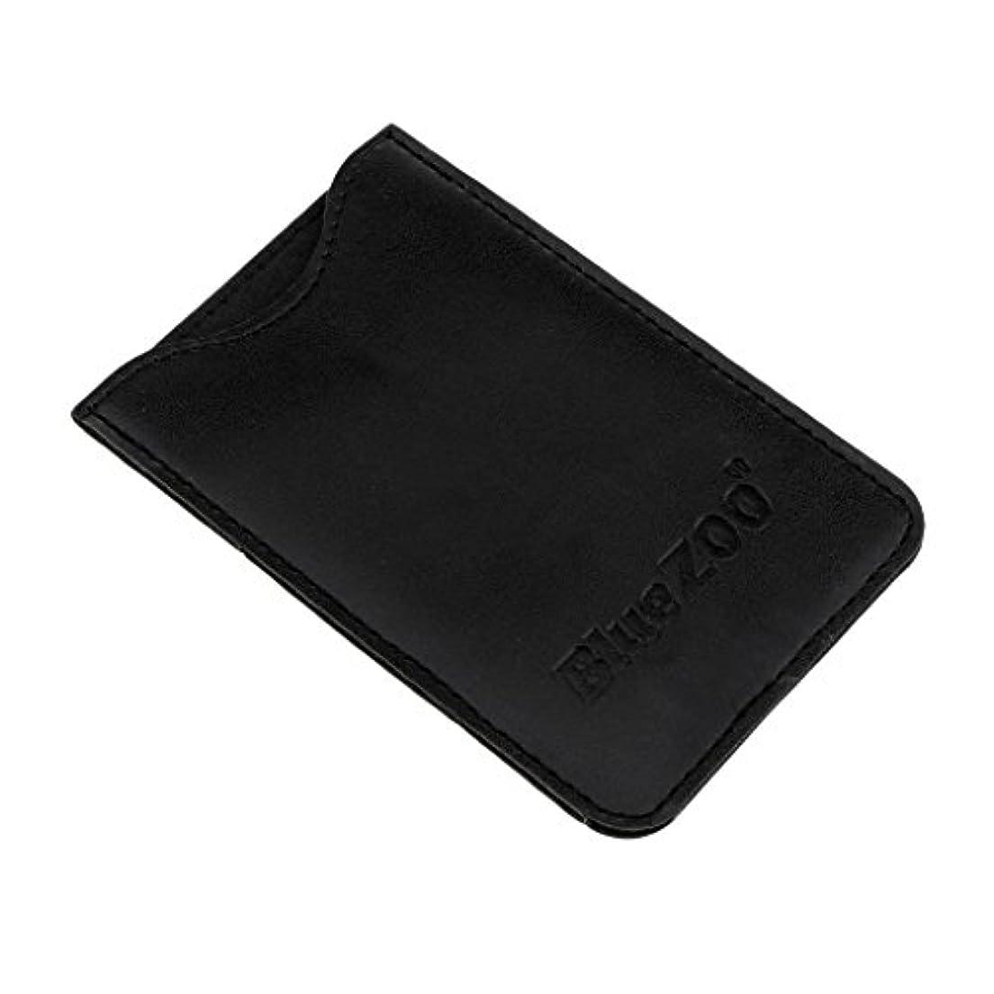 風邪をひく思い出させる移住するPUレザー バッグ 収納ケース 保護カバー 櫛/名刺/IDカード/銀行カード 収納パック 便利 全2色 - ブラック