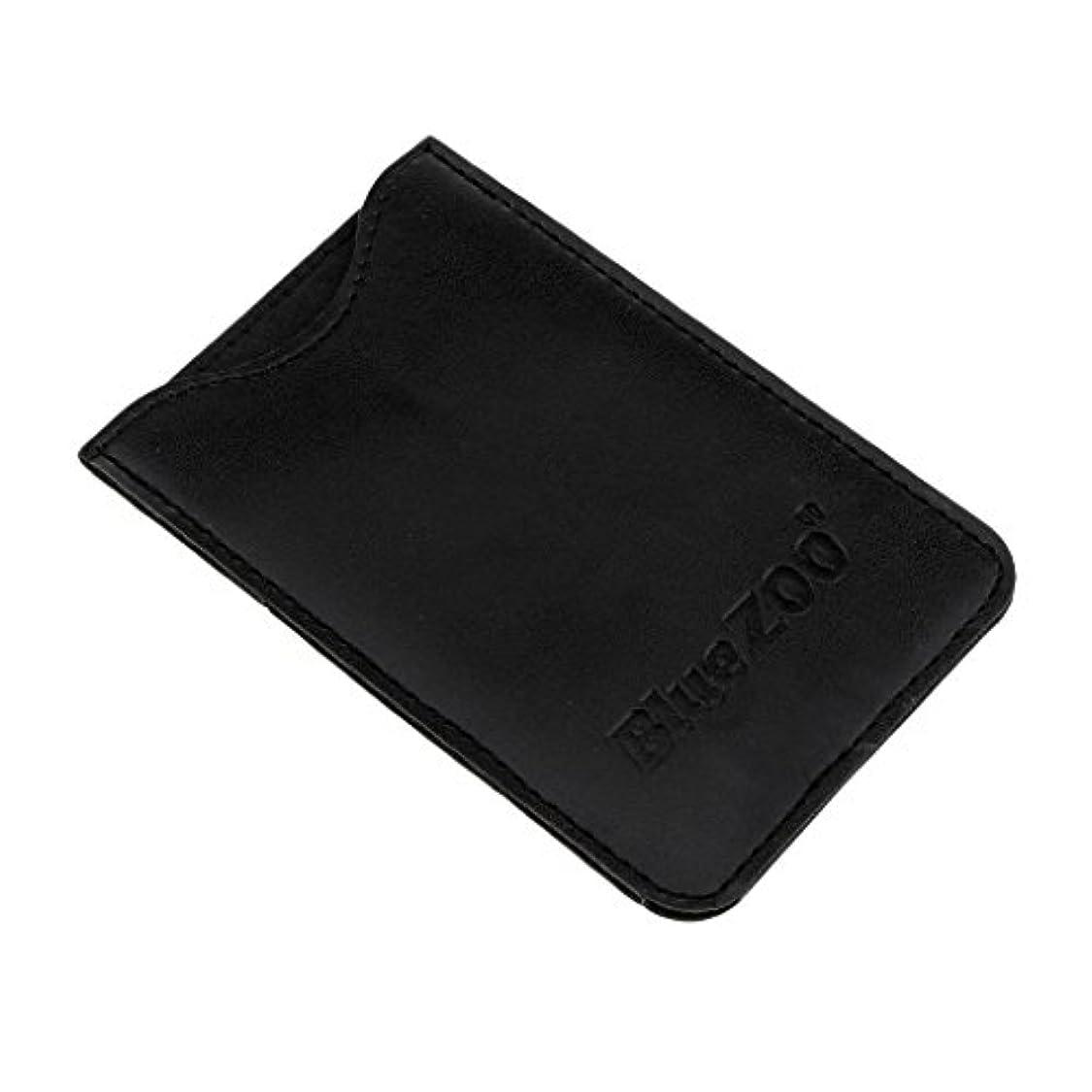 プレゼント変装した硬さPerfk PUレザー バッグ 収納ケース 保護カバー 櫛/名刺/IDカード/銀行カード 収納パック 便利 全2色  - ブラック