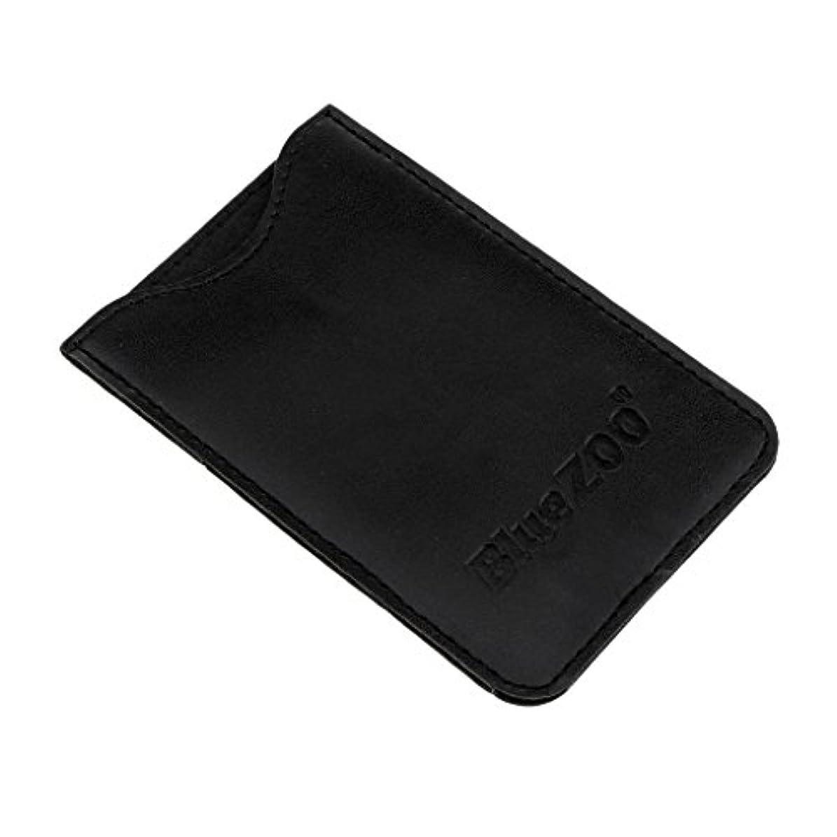クラッチ過剰講堂PUレザー バッグ 収納ケース 保護カバー 櫛/名刺/IDカード/銀行カード 収納パック 便利 全2色 - ブラック