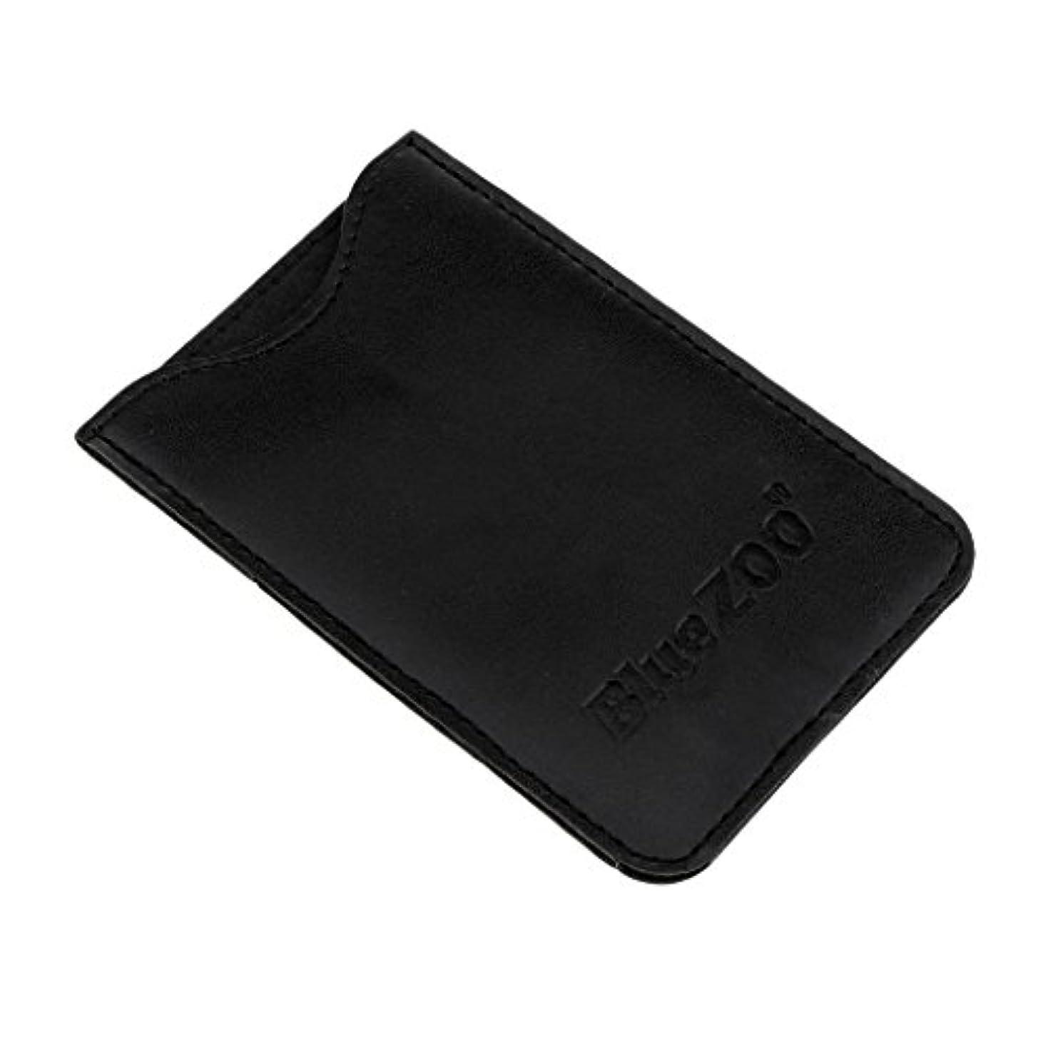 ナイロンあえぎ真鍮Perfk PUレザー バッグ 収納ケース 保護カバー 櫛/名刺/IDカード/銀行カード 収納パック 便利 全2色  - ブラック
