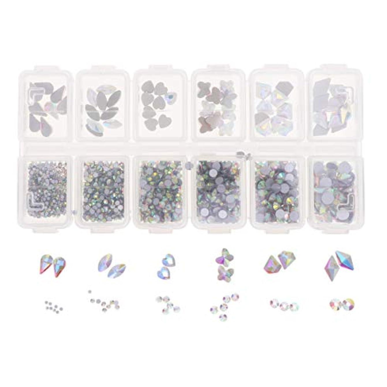 領域電極交換Lurrose 1788ピースネイルアートラインストーンキット12コンパートメントdiyラインストーンクリスタルダイヤモンドビーズ用女の子ネイルアート装飾用品