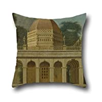 Oil Painting Francis Swain Ward - Mausoleum At Outatori Near Trichinopoly Throw Pillow Case 16 X 16 Inches / 40 By 40 Cm Gift Or Decor For Boys,festival,dinning Room,car,birthday,bench - Twice Sides