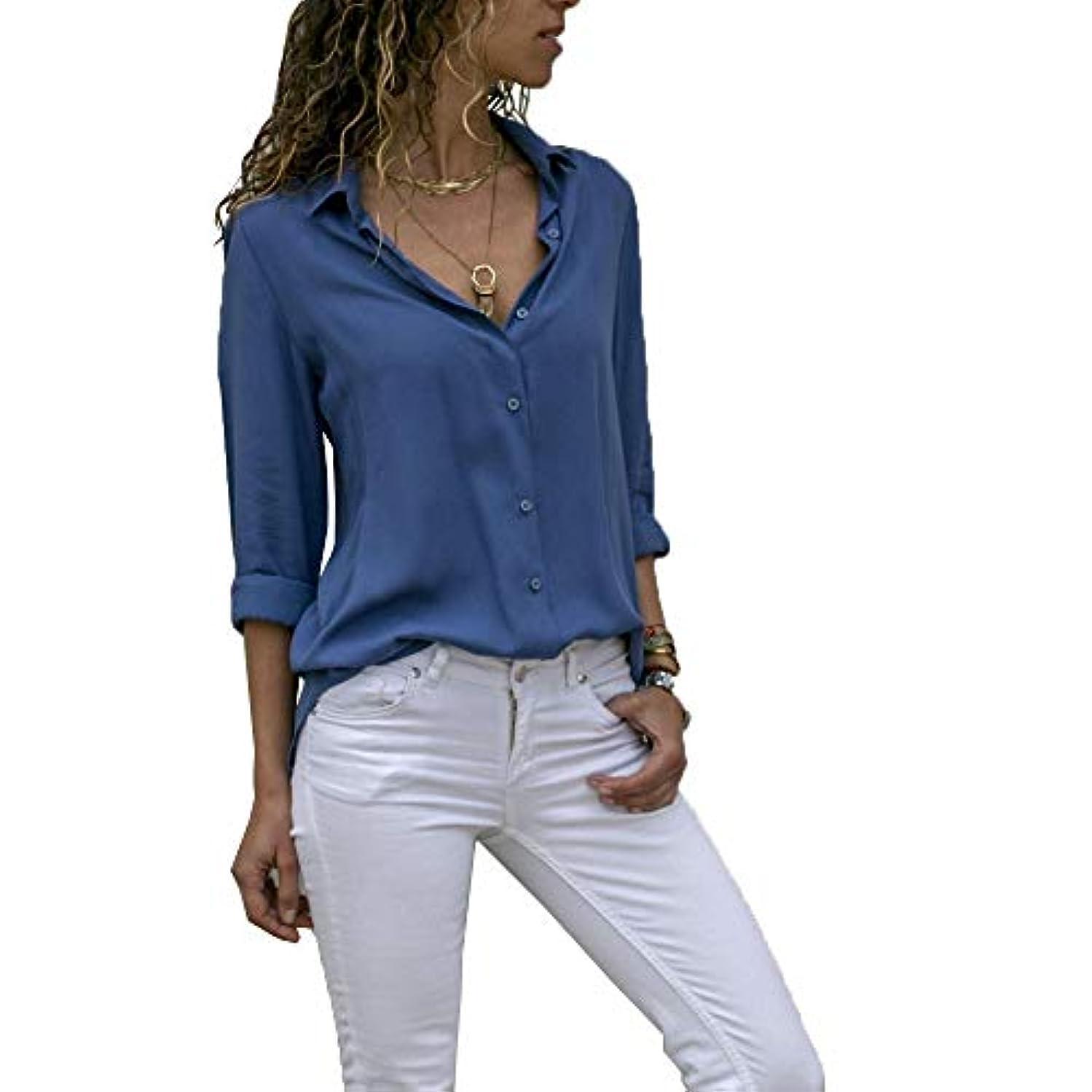 インカ帝国区画有利MIFAN ルーズシャツ、トップス&Tシャツ、プラスサイズ、トップス&ブラウス、シフォンブラウス、女性トップス、シフォンシャツ