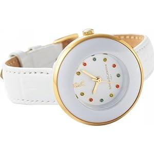 nobrand ロベルタ カラーストーンウオッチ レディース腕時計 ホワイト(RC7854-08WH)
