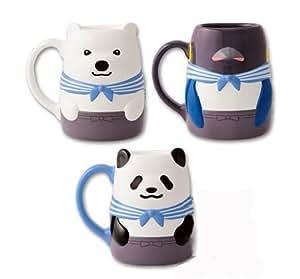 しろくまカフェ~LIVING LIFE~ キャラ型マグカップ 全3種 (パンダくん・シロクマくん・ペンギンさん)
