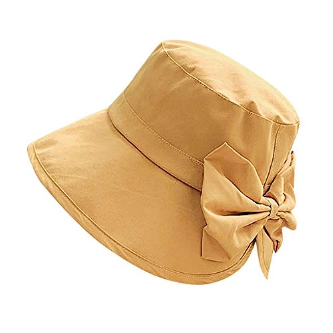 ブロック促進するドーム女性 帽子 レディース UVカット ハット女の子 つば広い 漁師帽 女優帽 小顔効果 紫外線 対策 レディース 蝶結び UV 加工 リボン ハット ビーチ 日よけ テント ビーチサンダル ベレー帽 ROSE ROMAN
