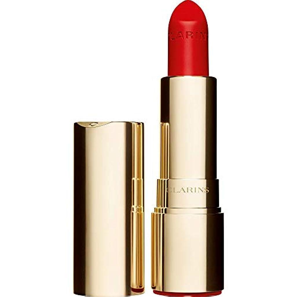 こねる騒ぎ失敗[Clarins ] クラランスジョリルージュのベルベットの口紅3.5グラムの741V - 赤、オレンジ - Clarins Joli Rouge Velvet Lipstick 3.5g 741V - Red Orange...