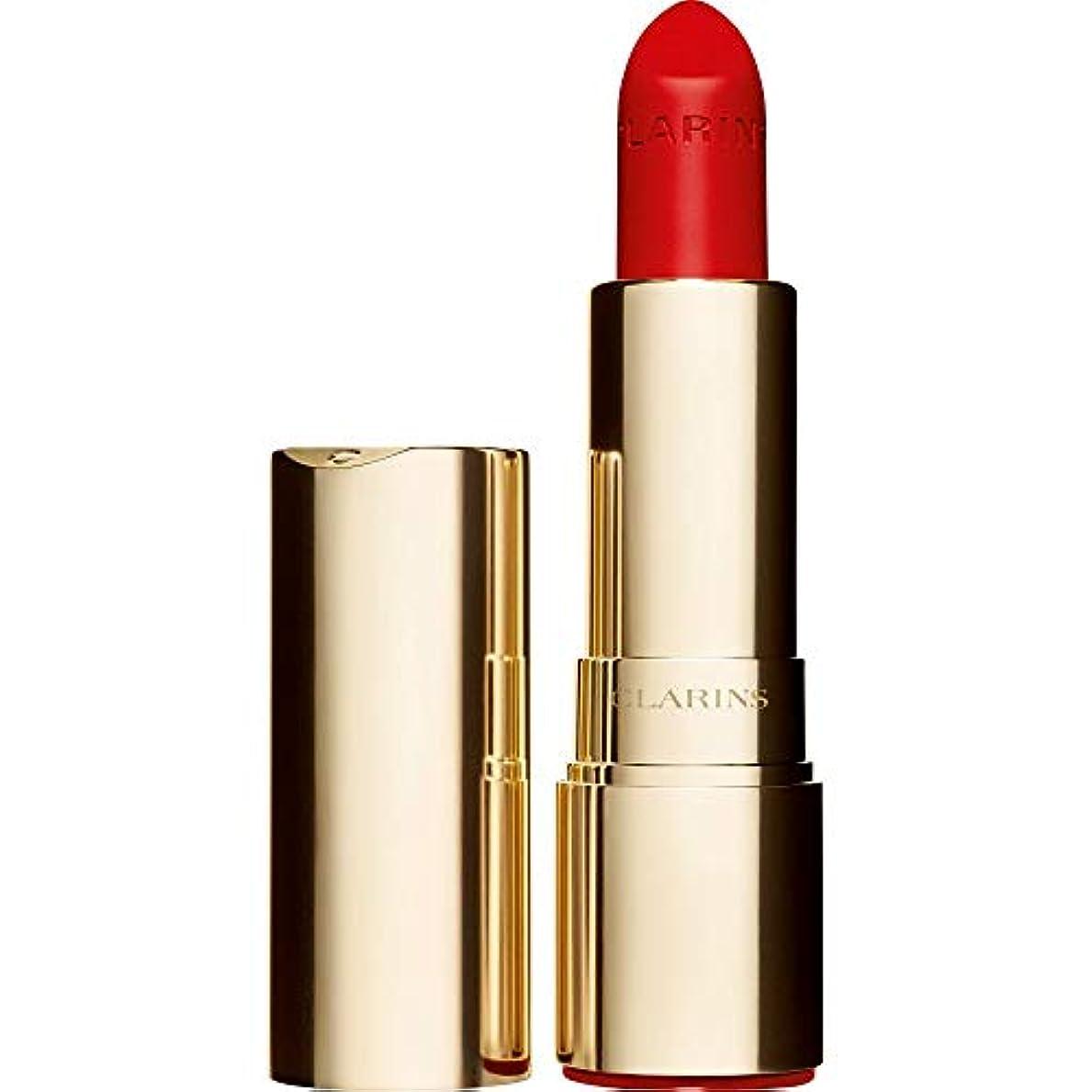 別々に宴会信頼性のある[Clarins ] クラランスジョリルージュのベルベットの口紅3.5グラムの741V - 赤、オレンジ - Clarins Joli Rouge Velvet Lipstick 3.5g 741V - Red Orange...