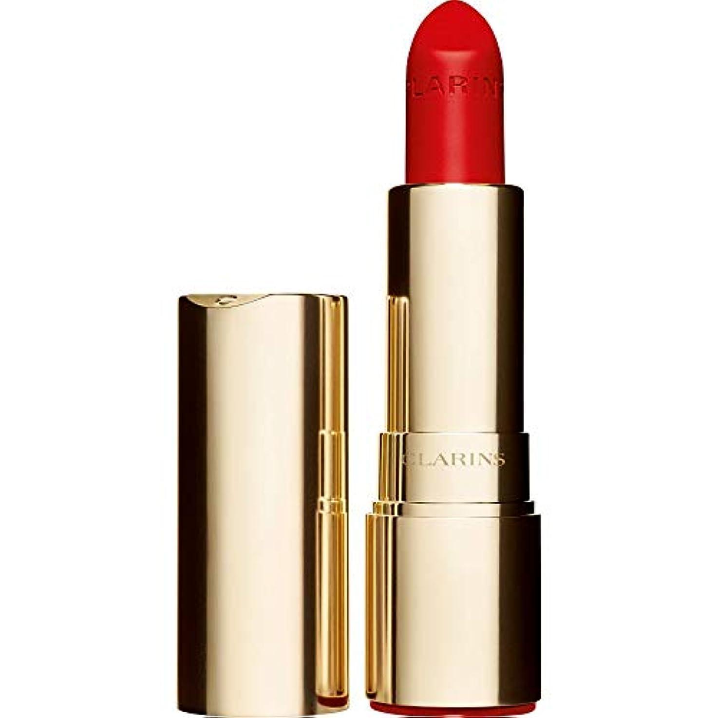 魅惑するクール維持[Clarins ] クラランスジョリルージュのベルベットの口紅3.5グラムの741V - 赤、オレンジ - Clarins Joli Rouge Velvet Lipstick 3.5g 741V - Red Orange...