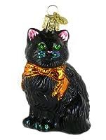Old World Christmas Halloween Kitty Glass Blown Ornament 【Creative Arts】 [並行輸入品]