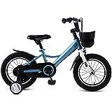 HAIZHEN キッズバイク, キッズバイク、3色子供自転車付き14/16インチトレーニングホイールギフト用男の子&女の子年齢3-5 (Color : A, Size : 16inch)