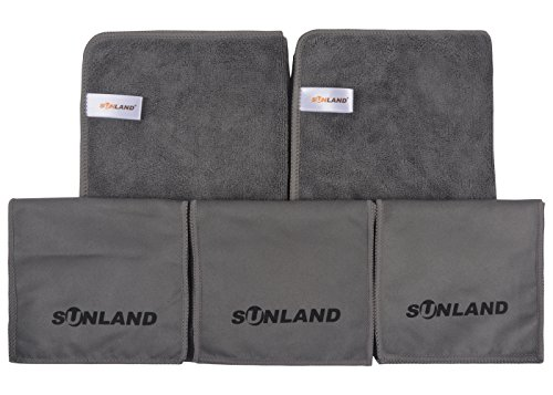 Sunland マイクロファイバー 靴磨きクロスセット - ...