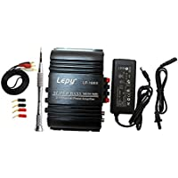 Lepy 新モデル LP-168S(ブラック)デジタルアンプ(本体+RCAオーディオコード+ACアダプタ 12V5A +バナナプラグ)LP-168HAバージョンアップ版