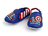 (L) 幼児の シューズ Kid Marvel Captain America Fly オーバーシューズ Baby 上靴 (4~7歳) 並行輸入
