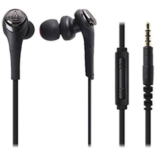 オーディオテクニカ SOLID BASS iPod/iPhone/iPad専用インナーイヤーヘッドホン ブラック ATH-CKS550i BK