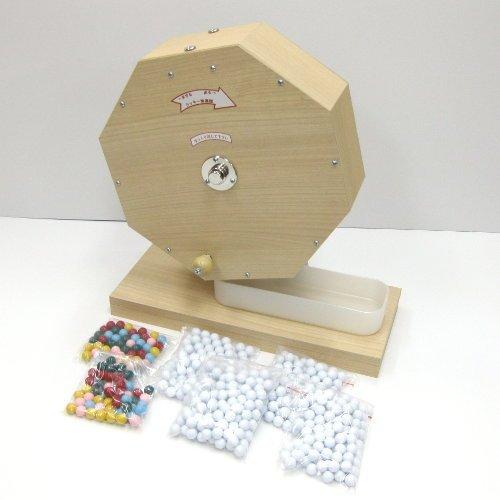 木製抽選器 (ガラポン・ガラガラ) 1000球用 抽選玉500球付き