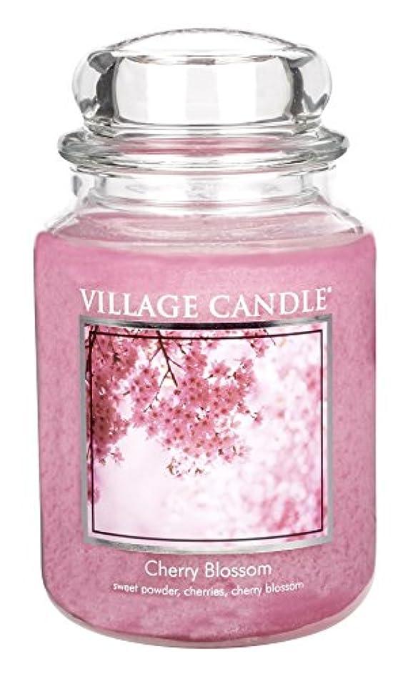 炎上ヘリコプター専門用語Village Candle Large Fragranced Candle Jar - 17cm x 10cm - 26oz (1219g)- Cherry Blossom - upto 170 hours burn...