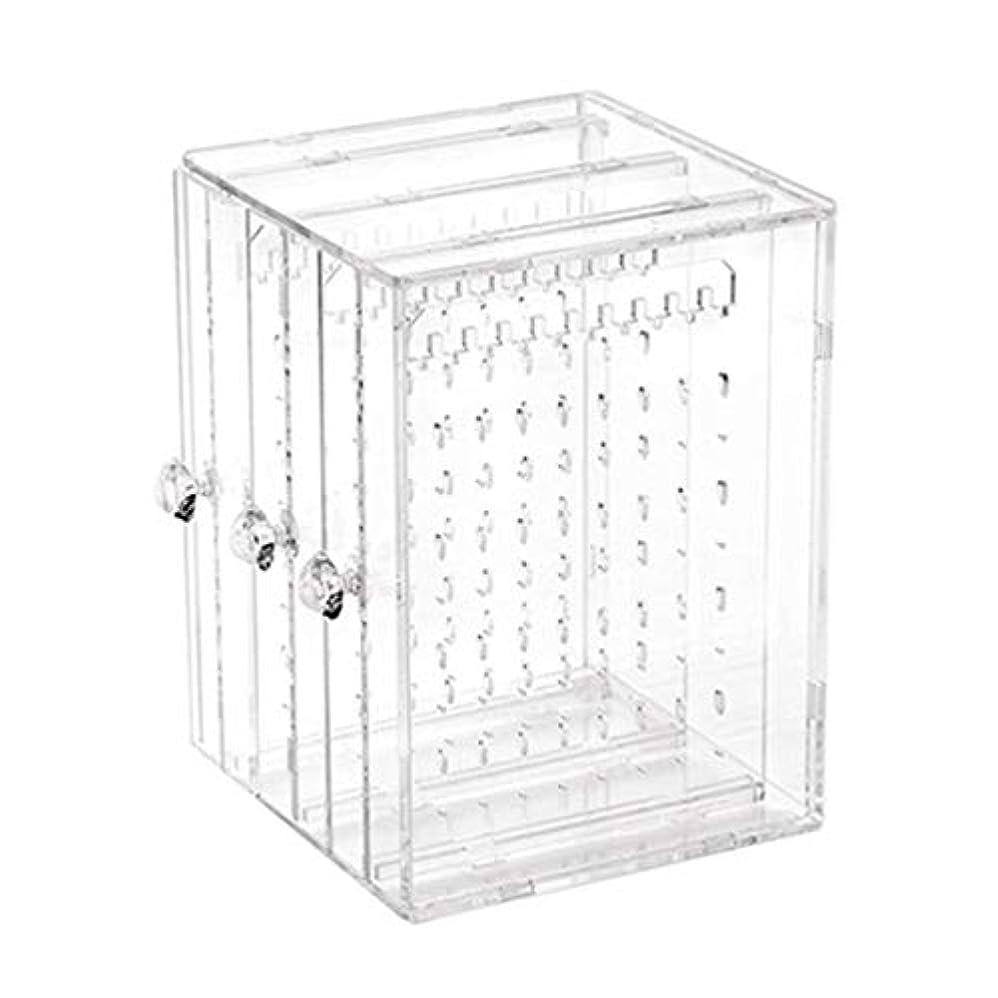 サイレントホイスト折Saikogoods シンプルなデザインの透明な女性のジュエリー陳列棚実用的なデスクトップイヤリングホルダーストレージラックの表示 トランスペアレント