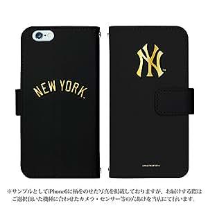 iPhone7 手帳型 ケース [デザイン:47.NY・(Gブラック)] ニューヨークヤンキース アイフォン スマホ カバー