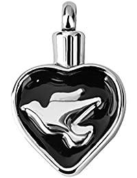 【ノーブランド 品】ペンダント メモリアル ペット 火葬灰 火葬灰 ネックレス DIY ホルダー ネックレス 平和の鳩の形