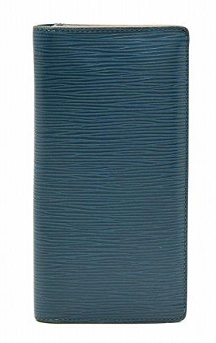 [ルイ ヴィトン] LOUIS VUITTON エピ ポルトフォイユ ブラザ 2つ折ファスナー長財布 ブルーセレスト 青 M60616