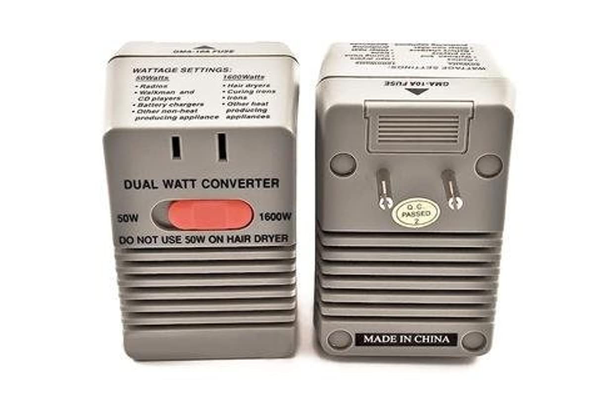 委託端真剣にSimran SM-1650 Step Down Power Converter for International Travel Converts 220 Volt to 110 Volt,Dual Setting 50W...