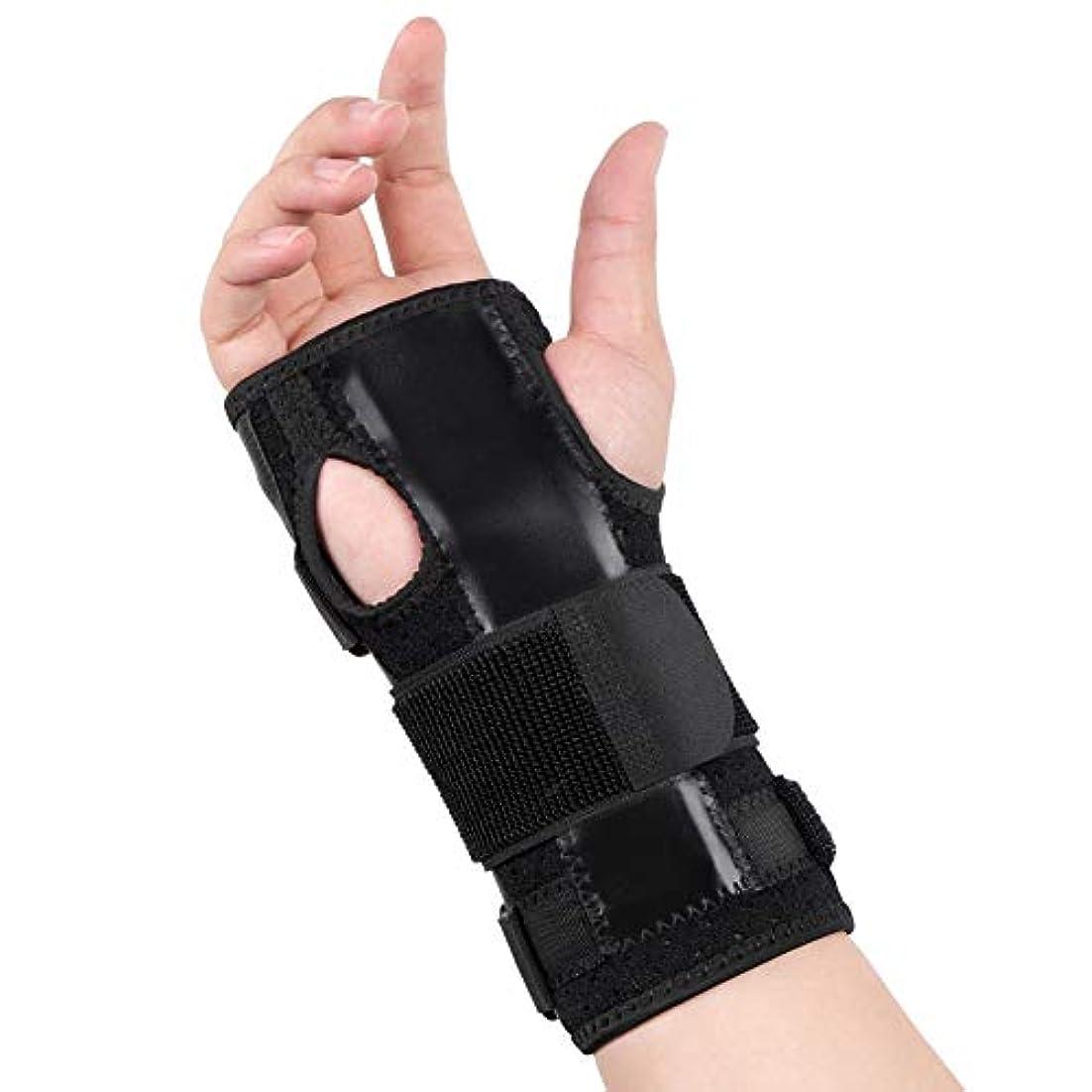 傀儡月屋内で手根管手首ブレース、腱炎マウスの手の怪我のための取り外し可能なスプリント安定剤を備えた快適で調整可能な手首のサポート、男性女性のためのナイトリスト睡眠サポート