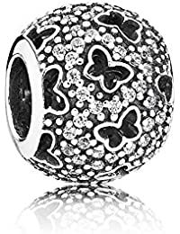PANDORA Charms Abstract Micro Pave Clear CZ Butterflies Charm