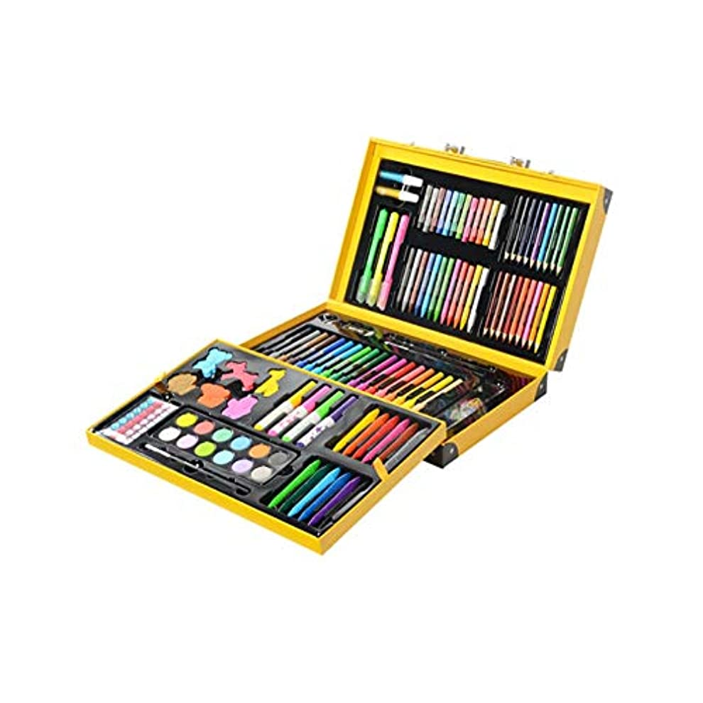 テロ夢中兄弟愛Fengshangshanghang001 ペイントブラシ、カラーキュート159ペイントセット、安全で環境にやさしく実用的、子供にも適しています(ピンク/イエロー、159、37 * 24 * 8cm) ペンの位置をガイドする (Color : Yellow, Size : 37*24*8cm)