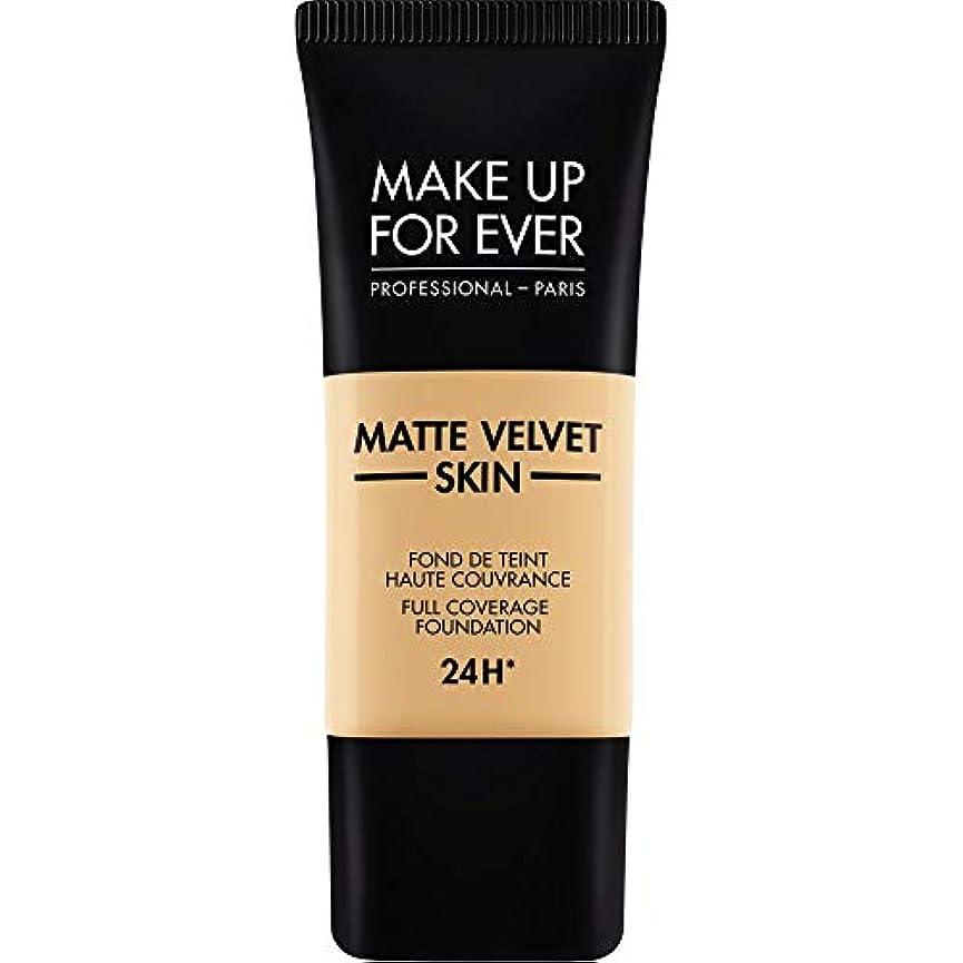 程度不機嫌そうなネックレット[MAKE UP FOR EVER ] これまでマットベルベットの皮膚のフルカバレッジ基礎30ミリリットルのY255を補う - サンドベージュ - MAKE UP FOR EVER Matte Velvet Skin Full...