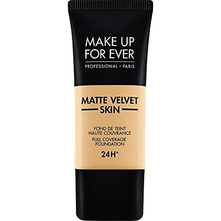 シーズン祈る協同[MAKE UP FOR EVER ] これまでマットベルベットの皮膚のフルカバレッジ基礎30ミリリットルのY255を補う - サンドベージュ - MAKE UP FOR EVER Matte Velvet Skin Full...
