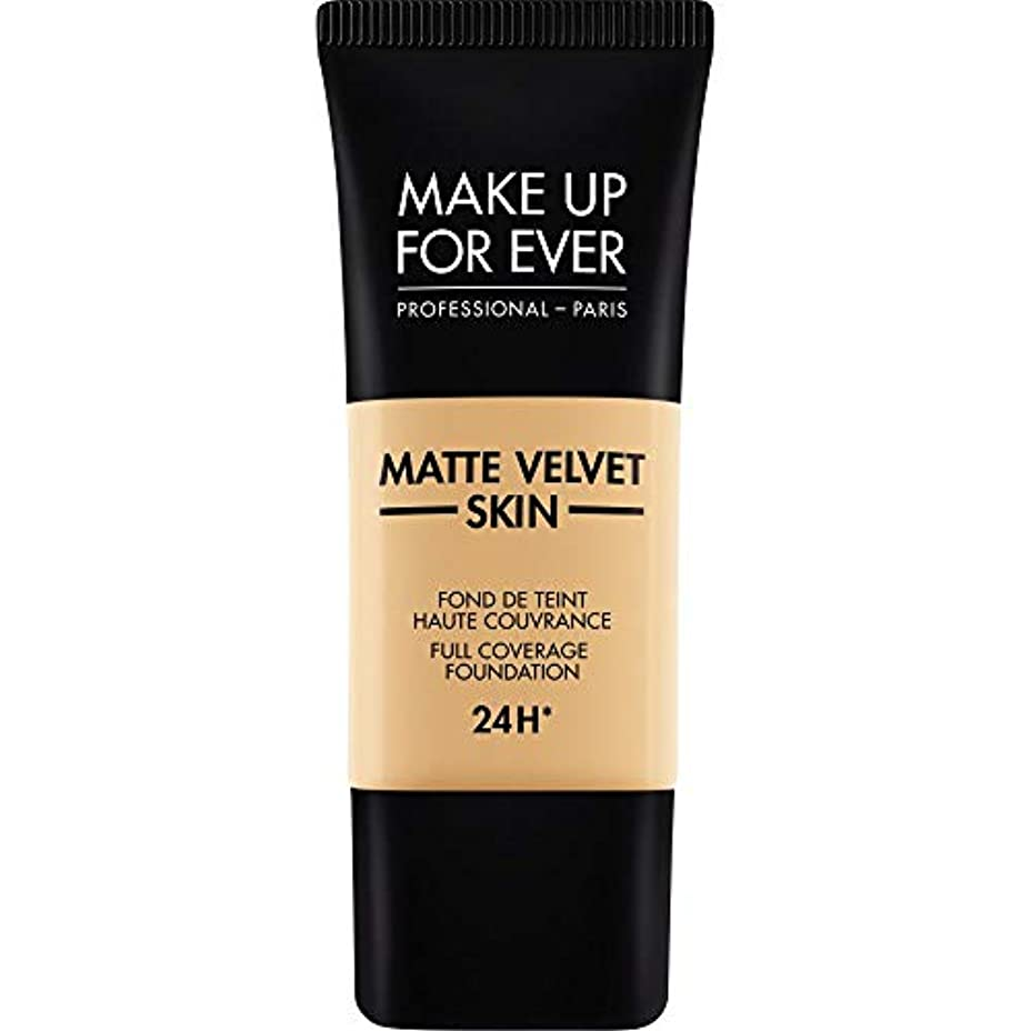 トレーダーストロー乱闘[MAKE UP FOR EVER ] これまでマットベルベットの皮膚のフルカバレッジ基礎30ミリリットルのY255を補う - サンドベージュ - MAKE UP FOR EVER Matte Velvet Skin Full...