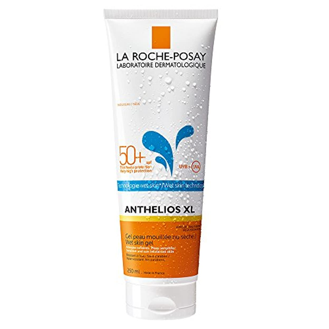 トランジスタ浸漬がっかりしたLa Roche-Posay(ラロッシュポゼ) 【濡れた肌にも使える日やけ止めジェルクリーム】アンテリオス XL ウェットスキン SPF50+/PA++++ 250mL <フェイス?ボディ用>