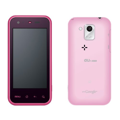 SHARP (シャープ) スマートフォン IS05 ピンク au Android2.2搭載 白ロム 携帯電話本体標準セット B004VCNXLG 1枚目