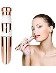 女性のための顔の毛の除去剤、顔、鼻、耳、および眉毛のための電気携帯用痛みのない顔かみそり、家庭および旅行のための脱毛器/トリマー