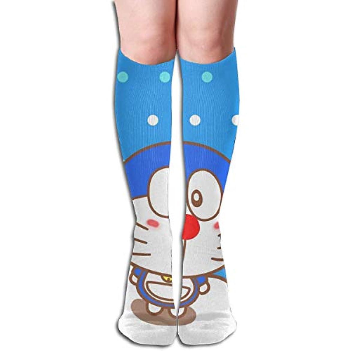 バインドヒールマルコポーロqrriy doraemonチューブストッキングレディース冬暖かい膝ハイソックスブーツ靴下