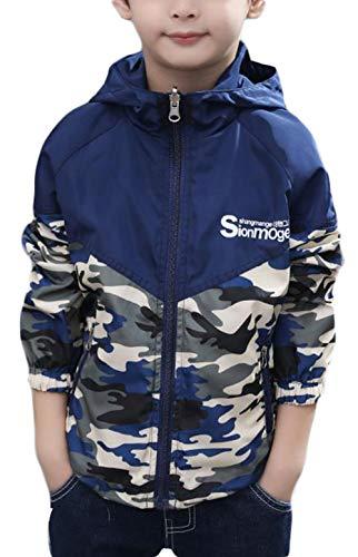 BSCOOLキッズ 男の子 ウインドブレーカー ジャケット 子供 服 アウター ジャンパー 秋服 ジャンパー 韓国ファッション(100ネイビー)