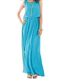 a68b5c07b9b92 Amazon.co.jp  ブルー - ワンピース・チュニック   ワンピース・ドレス ...