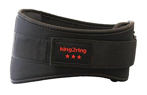 king2ring ウエイトトリフティング ベルト 筋トレ パワーベルト リフティングベルト SML 4サイズ pk770 black M