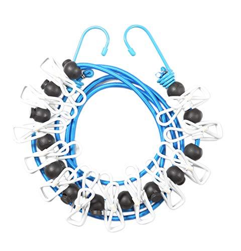 フォーラル(Forall) 洗濯ロープ ブルー ロープ:約直径4.5mm×長さ2m ピンチ:約18mm×55mm ちょい干し君 ピンチ付き