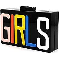 Women Cute GIRLS Box Clutch Acrylic Evening Handbag Cross-Body Purse Bag